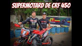 SUPERMOTARD HONDA CRF 450. A Minha 1º Vez. (Leandro Silva 14)