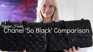 Chanel So Black Jumbo Comparison - Lambskin Vs Crumpled Calfskin | Opulent Habits