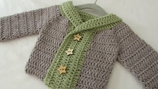 How To Crochet A Baby / Childrens Chunky Winter Sweater