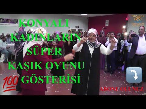 Konyalı Kadınların Hataylılara süper Kaşık Oyunu Gösterisi...