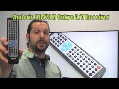 ANDERIC RR478M ONKYO Audio/Video Receiver Remote Control