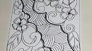 Menggambar Motif Batik Mega Mendung मफत ऑनलइन