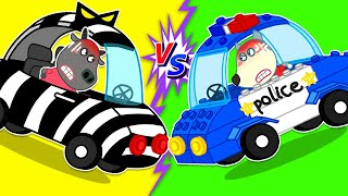Baby Wolf Makes Lego Police Car To Win Bad Car | Wolfoo Channel