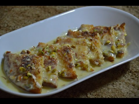 Shahi Tukda | Homemade Indian Dessert Recipe | ( Bread Pudding)