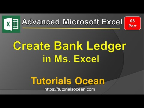 Part 8: Advanced Microsoft Excel Course – How to Create Bank Statement/Ledger in Excel in Urdu/Hindi