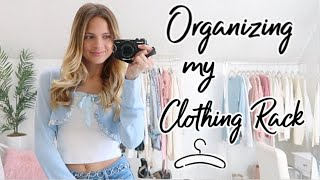 Clothing Rack Organization / Organizing And Cleaning My Room