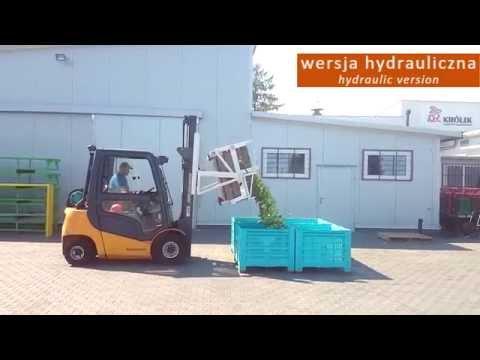 Krolik Hydraulische Kippvorrichtung für Gabelstapler WHA-115 für Palettenkisten