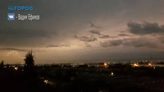Видео молнии над Рязанью
