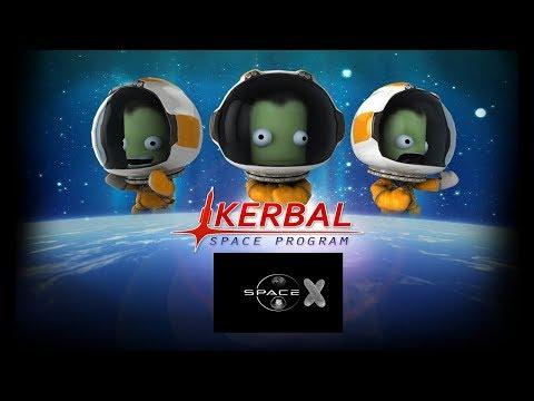 Kerbal Space Program. Огуречный SpaceX. Режим карьеры (стрим) #1