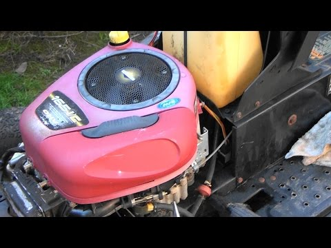 Briggs and Stratton INTEK OHV Engine: CARBURETOR REBUILD & Repair. Riding Lawnmower LEAKING GAS FIX