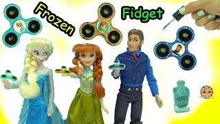 DIY Nail Polish Painted Queen Elsa, Prince Hans Frozen Fidget Spinners - Do It Yourself Craft Video