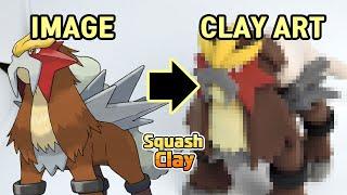 Pokémon Clay Art - Entei Fire-type Legendary Pokémon