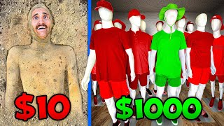 $10 vs $1000 Invisible Camouflage! *BUDGET CHALLENGE*