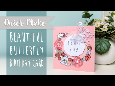 Beautiful Butterfly Birthday Card - Sizzix
