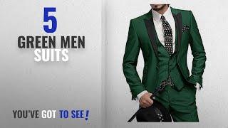 Top 10 Green Men Suits [Winter 2018 ]: One Button 3 Pieces Green Wedding Suits Notch Lapel Men Suits