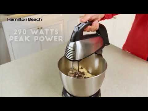 , Hamilton Beach 64650 6-Speed Classic Stand Mixer, Stainless Steel