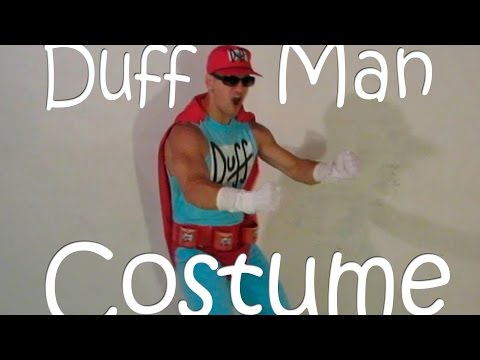 "Making the ""Duff Man"" Costume from The Simpsons"
