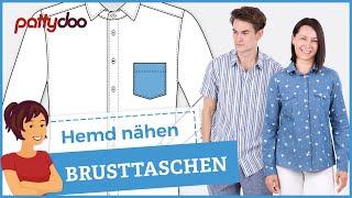 Anleitung Hemd nähen lernen - Teil 1: Vorderteile mit Brusttaschen