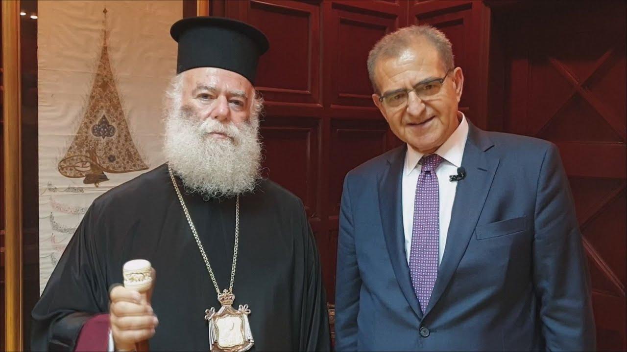 Αίγυπτος: Θερμή υποδοχή στον Αντ. Διαματάρη, από τον Πατριάρχη Αλεξανδρείας Θεόδωρο Β΄