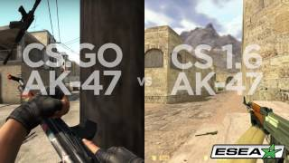 CS: GO vs CS 1.6 First Bullet Inaccuracy Comparison - Desert Eagle, AK-47, M4A1, M4A1-S, M4A4