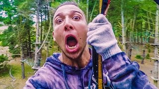 STUCK IN 150FT TREE! w/ Sam, Colby & Corey