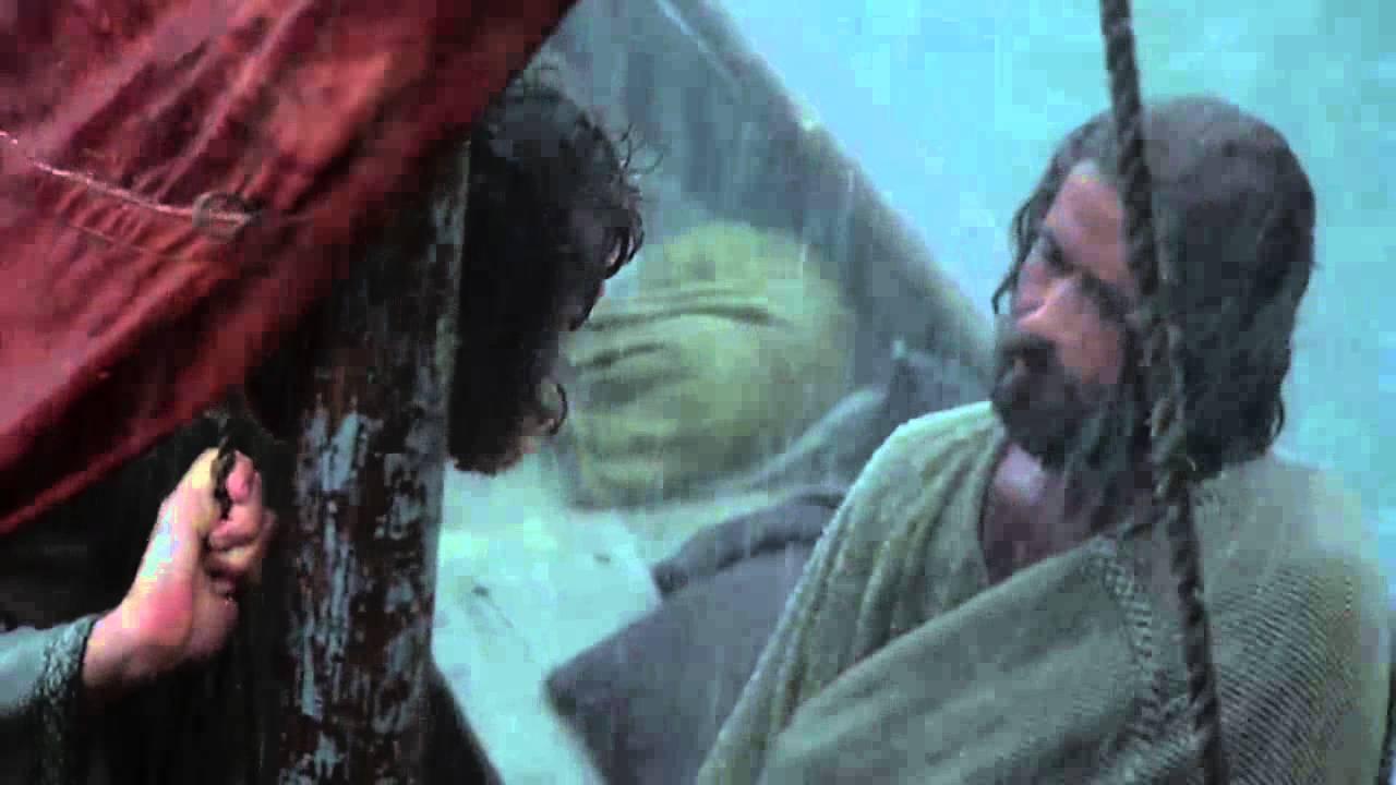 Jezus kalmeert de storm