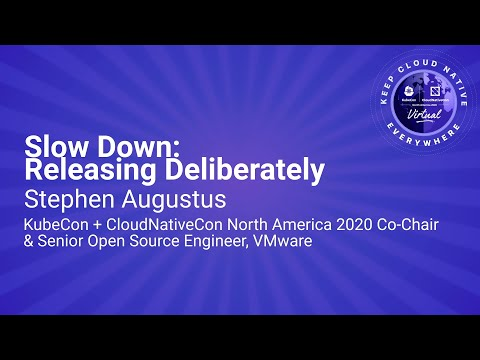 Image thumbnail for talk Keynote: Slow Down: Releasing Deliberately