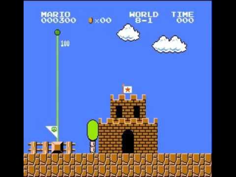Super Mario Bros. - 500 Point Run (видео)