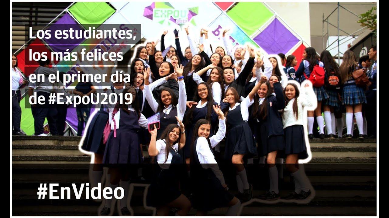 Los estudiantes, los más felices en el primer día de #ExpoU2019