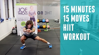 15 Minutes | 15 Exercises HIIT Workout | The Body Coach | Joe Wicks by The Body Coach TV
