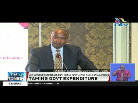 CBK Governor expresses confidence in ongoing fiscal consolidation