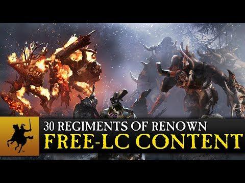 Total War: WARHAMMER – 30 Regiments of Renown – CA 30th Anniversary