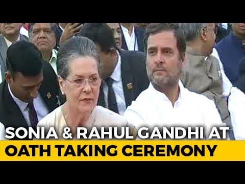 Arvind Kejriwal, Sonia Gandhi, Rahul Gandhi At PM Oath Ceremony