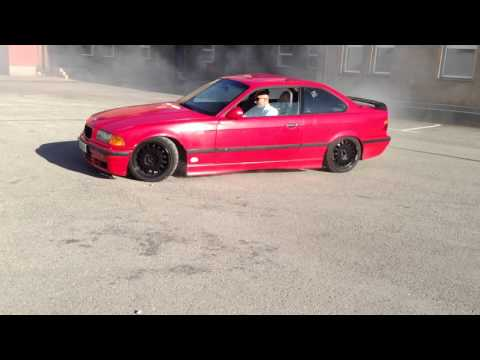 BMW E36 325i street burnout drift supersprint exhaust