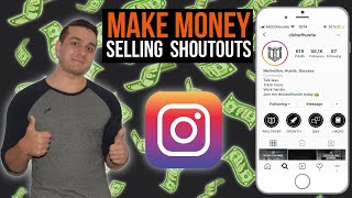 Make money selling shoutouts - How a 17 year old guy makes +100€ a week (With proof) 🤑