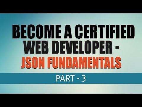 Free Complete Web Development Tutorial | JSON Fundamentals | Part 3 | Eduonix