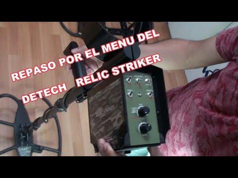 Repasamos el menu del Detector de Metales Relic Striker de Detech