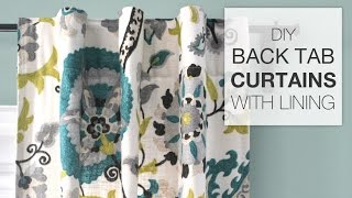 How To Sew Lined Back Tab Curtains (Tutorial)