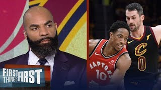 Carlos Boozer's takeaways from the Cavaliers sweeping the Raptors | NBA | FIRST THINGS FIRST
