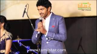Vikram Prabhu and Priya Anand at Arima Nambi Movie Audio Launch