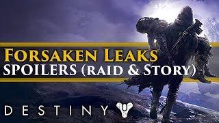 Destiny 2 Forsaken: Huge SPOILERS leaked... Raid boss, lore and character details!   Kholo.pk