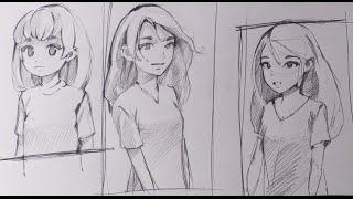 Смотреть онлайн Как рисовать аниме лица и тела в разных ракурсах