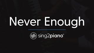 Never Enough (Piano Karaoke Instrumental) The Greatest Showman