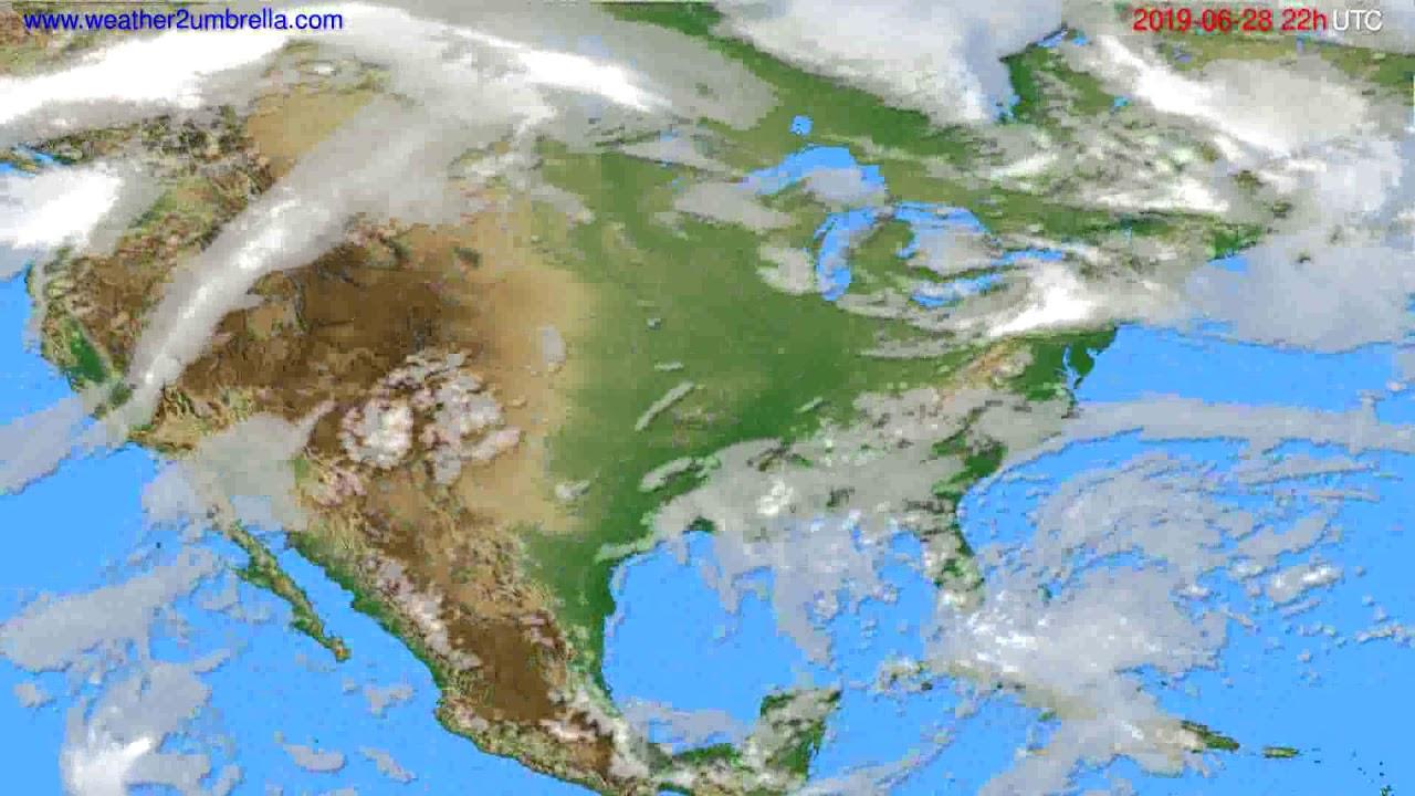 Cloud forecast USA & Canada // modelrun: 00h UTC 2019-06-26