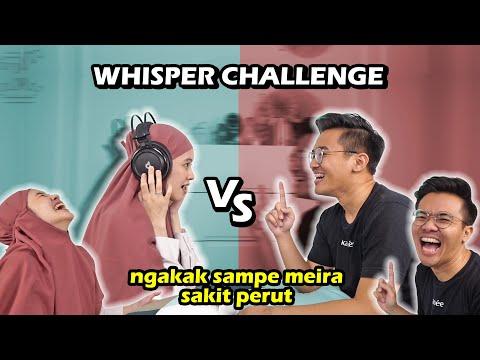WHISPER CHALLENGE IXORA VS MEIRA | Emosi! Ngakak! Baper! 😂