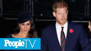 Pregnant Meghan Markle Shows Growing Baby Bump While Holding Hands With Prince Harry | PeopleTV