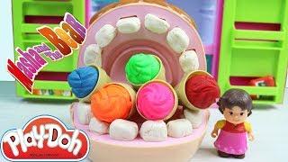 Play Doh Dişci Ve Heidi Çizgi Filim Karakteri Bütün Dondurmaları Yiyorlar Maşa Diş Doktoru
