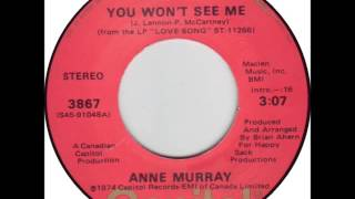 ANNE MURRAY * You Won't See Me   1974  HQ