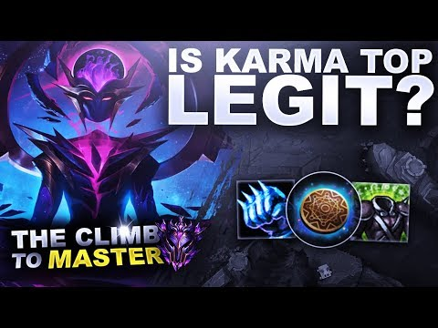 IS TANK KARMA TOP LEGIT? - Climb to Master S9 | League of Legends