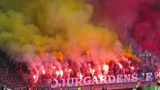 DIF Ultras: Halvtids-tifo i cupfinalen mot Malmö FF